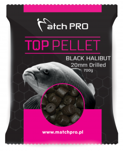 BLACK HALIBUT Drilled 20mm Pellet MatchPro 700g