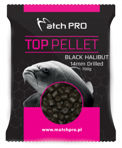 BLACK HALIBUT Drilled 14mm Pellet MatchPro 700g