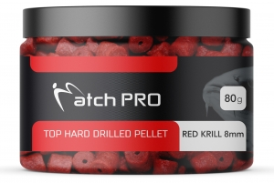 TOP HARD RED KRILL 8mm DRILLED Pellet MatchPro  80g