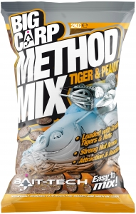 BIG CARP METHOD Tiger&Peanut Zanęta Bait-Tech 2kg 2501466