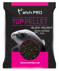 BLACK HALIBUT Drilled 8mm Pellet MatchPro 700g