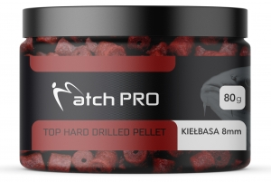 TOP HARD KIEŁBASA 8mm DRILLED Pellet MatchPro 80g