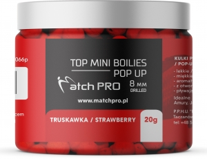 TOP BOILIES Kulki POP UP STRAWBERRY 8/20g MatchPro