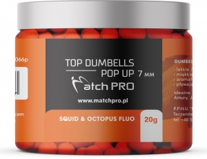 TOP DUMBELLS POP-UP SQUID & OCTOPUS FLUO 7mm / 20g MatchPro
