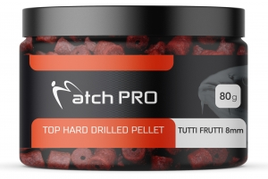 TOP HARD TUTTI FRUTTI 8mm DRILLED Pellet MatchPro  80g
