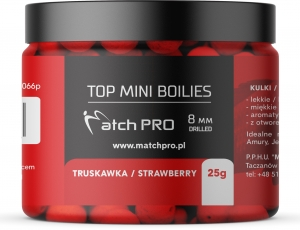 TOP BOILIES Kulki STRAWBERRY 8mm / 25g MatchPro