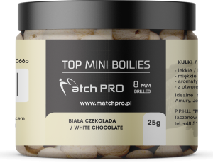 TOP BOILIES Kulki WHITE CHOCOLATE 8mm/25g MatchPro